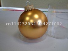 Discount, the big sale. Christmas glass ball,gold color, d = 6.70cm(China (Mainland))