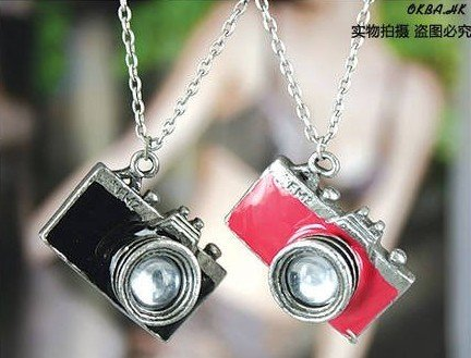 6pcs/lotfree shipping necklace chain South Korea Jewelry Vintage Camera Necklace / Chain(China (Mainland))