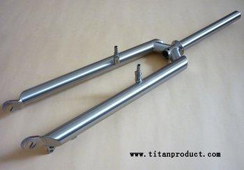 3AL/2.5V Titanium MTB Fork (OD31.6*TH1.2mm Fork Leg, V Brake + Disc Brake)