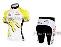 Free Shipping!! WOMEN CYCLING JERSEY+SHORTS BIKE SETS CLOTHES 2011 AMORE&VITA-WHITE-SIZE:S-4XL