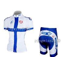 Free Shipping!! WOMEN CYCLING JERSEY+SHORTS BIKE SETS CLOTHES 2011 FDJ-WHITE-SIZE:S-4XL