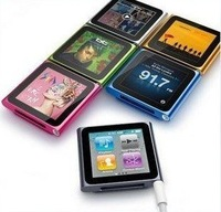 Hot Sale Real 8GB 1.8 inch 6th generation digital MP3 MP4 player with FM,Touch screen with GIFT