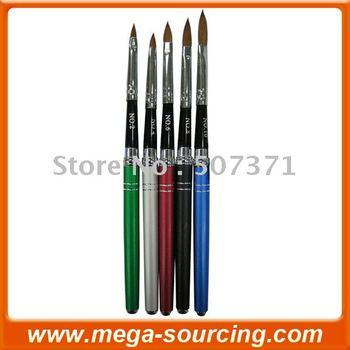 Free Shipping Sable Kolinsky Nail Art Brush Nail Pen #8 Oval