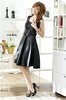 FY1122 big size  new gorgeous chest beaded black bow waist cocktail party dress S/M/L/XL/2XL/3XL