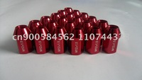 20 LIGHT RED 12x1.5 35MM WHEELS LUG NUTS