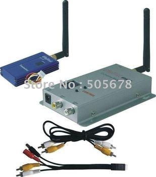 2.4GHz 1000mW wireless audio video transmitter receiver kit
