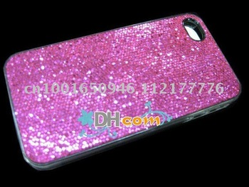 Free Shipping Glitter Bling Shining Hard Back Case For iPhone 4G 4 4TH,plastic case cover 50pcs/lot