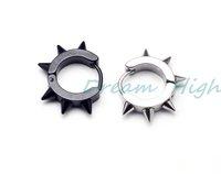 New Arrival Stud Ear Stud Fashion 316L Statinless Steel Hoop Earring Fancy Jewelry Wide 4mm  Free Shipping