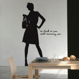 Free shipping ,Wholesale And Retail , Wall sticker,room sticker,window sticker house decorative sticker,Cool Girl,K-48(China (Mainland))