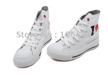 2pcs/lot Freeshipping!canvas shoes High-cut shoes with Perfect Quality !different coloer
