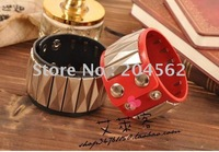 Free shipping 2011 hand to take new rivets bracelet skin long rivets bracelet bangles/lover's gift