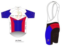 Customize Short Sleeve Cycling Jersey And BIB Shorts kits,Custom Cycling Wear / bicycle clothing