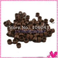 1000pcs Micro Ring Links for Hair Extensions #04  light brown
