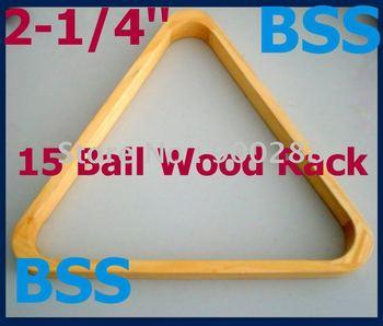 Free Shipping 2pcs/lot 15 Ball Triang Rack Finish Pool Table Billiards Wood NEW