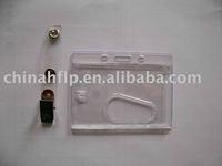 transparent plastic rigid id badge holders