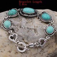 TIBET STYLE TIBETAN SILVER TURQUOISE Bracelets.Wholesale Cheap New arrival Bracelets(GB-003)