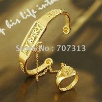 fashion jewelry bangle 18k yellow gold filled MY BABY bangle ring togather jewelry jewelrlry bracelet bangle