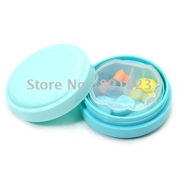 Free shipping-30pcs/lot,Circular fashion double 3 case sealed bag,Carry-on pill case(color same as picture),best-selling