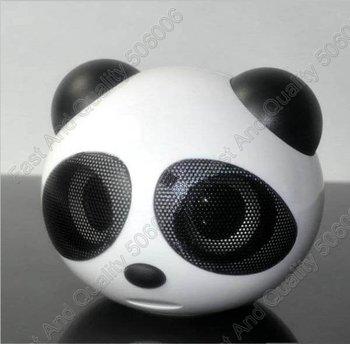 Panda USB Speaker , Mini Speaker red with black for MP3 ,MP4 ,MP5,computer