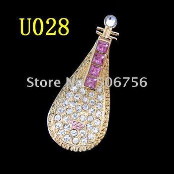 wholesale Free Shipping 2GB  USB 2.0 Jewelry USB, Crystal USB,PipaUSB