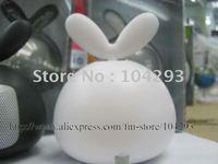 Free shipping novelty rotate rabbit mini speaker