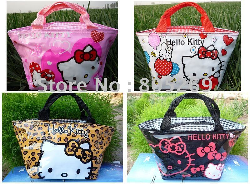 4PCS New Hello kitty cute lunch bag Girls Handbag#12(China (Mainland))