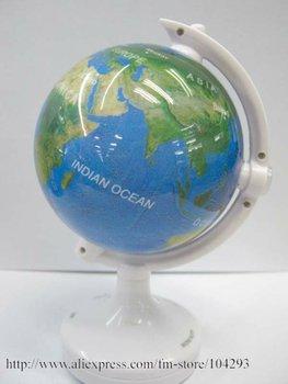 Free shipping 17pcs/lot novelty globe mini speaker/ novelty mini speaker/ creative lighting mini spaker/ Support TF speaker