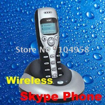USB Skype Phone 2.4G 50M Wireless VoIP LCD Cordless Handfree Telephone