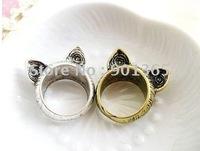 fashion ring vintage antique  cat ring 10pcs/lot& Free shipping