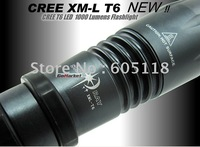 hot sell Brand New style 1000 Lumen CREE XM-L T6 LED Flashlight Torch +18650 battery+Charger