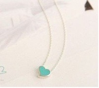 free shipping necklace chain Korea Hot sell Love jewelry sweet peach heart necklace 5g 743