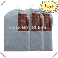 5pcs/lot,dustproof, mothproof, moistureproof,Bamboo Charcoal Non-woven fabric suit cover,garment bag,garment cover(90*58cm)