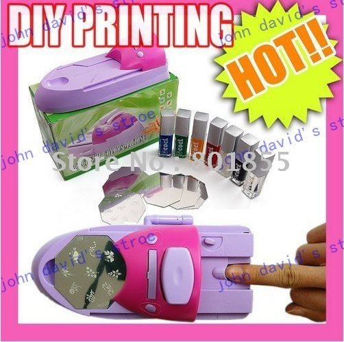 Nail printing machine, nail device, diy nail stamping printing machine polish .1 pc/lot(China (Mainland))
