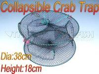 DHL/FEDEX ! 10Pcs Pack Fishing Collapsible Crabfish Shrimp Crab Traps Crab Granchio Keepping Net