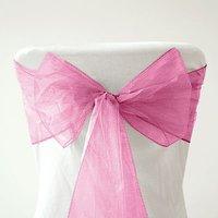 Free shipping--Hot PINK NEW Wedding Party Banquet Chair Organza Sash
