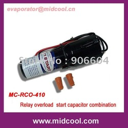 Relay overload start capacitor combination for refrigerators/freezers Rco-410(China (Mainland))
