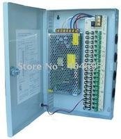 Free shipping 18CH 12V 20A CCTV power supply box / 12V 20A 240W monitor power supply / switch power supply