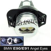 DHL Fast Shipping! Xenon White LED Marker Angel Eyes Kit for BMW E90 Saloon/E91 Touring