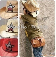 Buy Pirates cap Straw Hat Fashion Children's Cap suit for 2-7 years Several colors mix 25pcs/lot wholesale free shipping