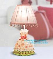 Free Shipping Wholesale Fashion Creative Abajur Skirt Table Lamp Desk Luminaria de mesa Table Light Fixture Modern Children Lamp