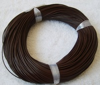 FREE SHIPPING   1mm brown real round leather cords L010-2