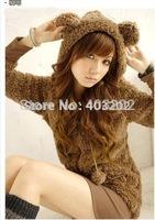 Free shipping Cute Lolita Comfy Bear Ear Hoodie Jacket Size