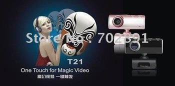 5pcs/lot hd camera fashionable magic T21 Extreme T21V with wheat computer camera free shipping