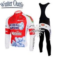 Free Shipping!! WINTER MEN'S CYCLING LONG JERSEY+BIB PANTS BIKE SETS CLOTHES 2011 ACQUA&SAPONE-RED-SIZE:S-4XL