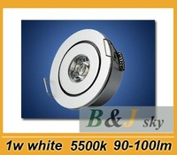 Factory wholesale,1w white led ceiling light,with power supply,90-100lm,5500k,Fast and free shipping