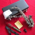 Black Nickel Soprano Saxophone Curved Silver Bb Saxofon