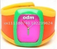 5pcs/Lot 3 colours in 1 silicone jelly watch sport cany candy free shipping