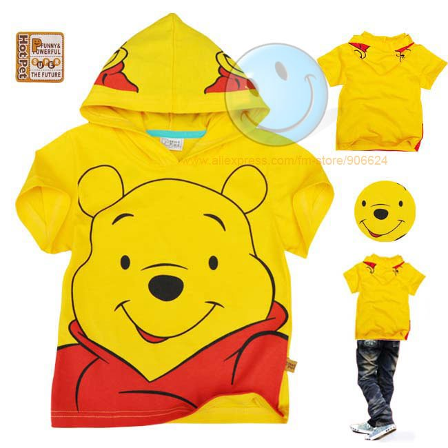 New arrival 12pcs/lot wholesale free shipping 100% cotton short sleeve with hat t shirt/children's T-shirt/boy's T-shirt/T-shirt(China (Mainland))