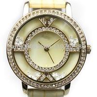 Free Shipping Korean Fashional Famous Brand Wrist Watch Light Yellow