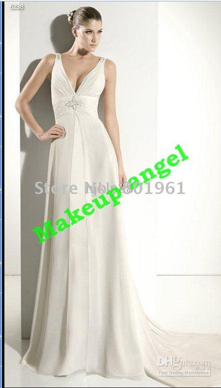 Sherisse\'s blog: Greek Goddess VNeckline Wedding Dress Royal Style ...